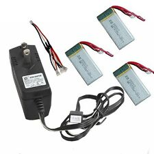 3x 1200mAh Batteries+1x 3-In-1 Cable+1x Charger For MJX X101 RC Drone Quad W1Y
