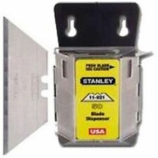 NEW STANLEY 11-921A 100 PACK HEAVY DUTY UTILITY RAZOR BLADES WITH WALL DISPENSER