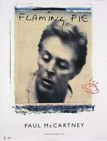 The Beatles Paul McCartney Flaming Pie Original Promo Poster