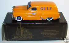 RARE BROOKLIN PONTIAC SEDAN DELIVERY GULF OIL 1953 JAUNE ORANGE REF 31  IN BOX b