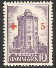 Denmark 1944 Red Cross/Medical/Health/Welfare/Church Tower/Buildings 1v (n35891)