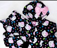 Sanrio HELLO KITTY Hooded Footie Footed 1 PC Pajamas NWT S M or L LAST ONES HTF