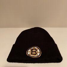 Boston Bruins Plain Logo Winter Beanie Hat NHL Hockey One Size Fits All