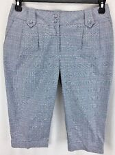 WOMENS LILYS OF BEVERLY HILLS GOLF TENNIS CAPRI PANTS SIZE 6 GRAY PLAID