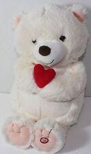 HALLMARK IVORY WHITE  RED HEART VIBRATING  VALENTINE  / BDAY GIFT PLUSH