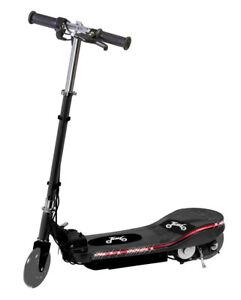 Kids 24v Battery Electric E Scooter Ride On Escooter LED Running Light Black