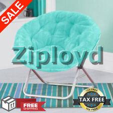 Oversized Moon Chair Seat Stool Saucer Soft Folding Living Room Sofa, Aqua