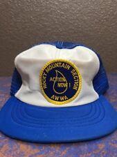 Rocky Mountain Section AWWA Men's Blue Mesh SnapBack Baseball Cap Hat