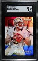 2014 Panini Prizm Drew Brees Red White Blue Prizm SGC 9 Mint New Orleans Saints