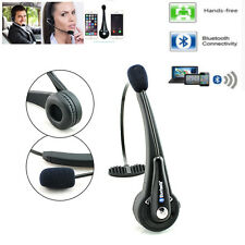 Noise Cancelling!! Wireless Handsfree Bluetooth Headset Boom W/ Mic Truck Driver