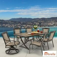 Agio Eldorado 7 Piece Sling Cast Aluminium Dining Patio Set