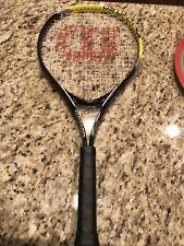 """Set Of 2 Wilson US Open 25 Tennis Racquet 3 7/8"""" Grip Very Light only 7.85oz."""