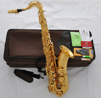 Professional TaiShan 7000 Tenor Saxophone Bb Gold Sax High F# With Germany Mouth