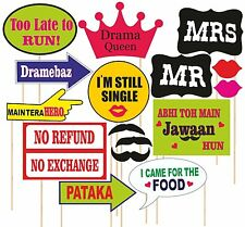 SYGA Set Of 16 Marriage Or Party Theme Photo Booth Props