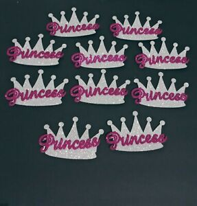 10 Baby Shower Princess Silver Crowns Foam Party Decorations 4 In. Girl Favors