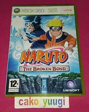 NARUTO THE BROKEN BOND XBOX 360 TRES BON ETAT VERSION FRANCAISE