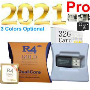 R4 2021 R4i Gold SDHC for DS/3DS/2DS/ Revolution Cartridge With 32G Adapter USA