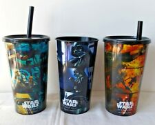 Hoyts Star Wars Rogue One Cinema Collector Cups x3 Darth Vader, Jyn Erso, Empire
