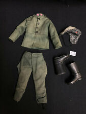 side panel backing card and paperwork ACTION MAN   Famous Uniform Card