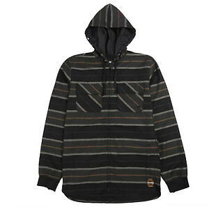 ANALOG by BURTON Mens 2017 Snowboard Snow Black INTEGRATE HOODED FLANNEL