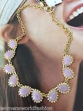 Kate Spade NY Balloon Bouquet Crystal Statement Necklace Lilac WBRU9219 NWT