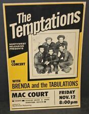 1971 The Temptations poster/ window card - BIN