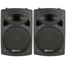 "QTX Sound QR15K 15"" 800W Active Powered PA DJ Disco Party Karaoke Speakers PAIR"