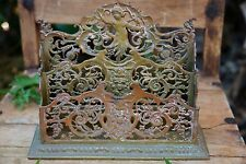 Gorgeous Brass Bronze Victorian Letter Holder Devil Angel Cupid