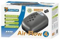 Superfish Air Flow 4 Budget Air Pump Aquarium Fish Tank Airpump 600L/H 4 Outlets