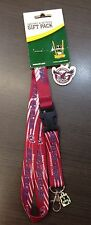23010 MANLY SEA EAGLES NRL RUGBY LEAGUE LANYARD & KEYRING KEY RING PACK