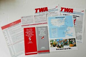 VTG TWA FREQUENT FLYER MEMEBERSHIP GUIDES; UPDATES; ROUTE SYSTEM 1988