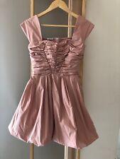 Authentic MIU MIU Nude Pink Mini Party Cocktail Dress Sz 38 10 S EUC