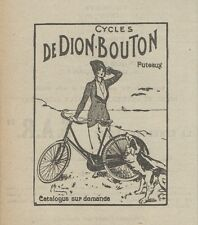 Z9419 Cycles DE DION-BOUTON -  Pubblicità d'epoca - 1921 Old advertising