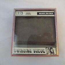 Westport Swinging Suede Gray Deluxe Tri-Fold Wallet NEW in Box w Blemishes USA
