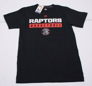 NEW Majestic Womens S Black NBA Toronto Raptors Basketball Cotton T-Shirt NWTs
