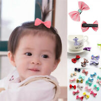 20× Sweet Baby Newborn Infant Kids Girls Princess Bow Bowknot Hair Clips Hairpin