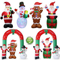 Christmas Inflatable Santa Claus Archway Air LED Lights Outdoor Yard Decor