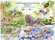 MALAYSIA STAMP 2016 TUJUH KEAJAIBAN FLORA & FAUNA M/S SHEET