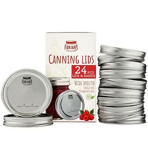 48 Count / 24 Sets , Canning Lids and Rings Wide  Mouth USA in stock