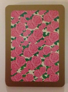 Vintage Illustrated Pink Roses Swap Card Playing Card