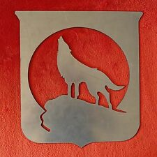 Stemma fregio figura lupo solitario in ferro per cancello inferriate a saldare