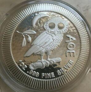 2020 Niue 1 Oz .999 Silver Round - Athena Owl