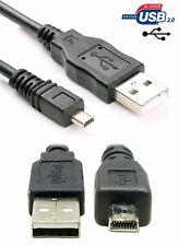 Cable de sincronización de datos USB para Panasonic Lumix DMC-FZ100GK GF2 GF2GK TZ6 DMC