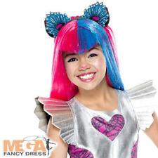Catty Noir Wig Girls Fancy Dress Monster High Halloween Childs Kids Costume Wig