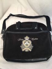 JUICY COUTURE  Brown Velvet Padded Laptop Messenger Shoulder Bag