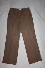 EUC Ann Taylor Loft ATL Work Dress Pants Women 4 Laura Style Brown Lined