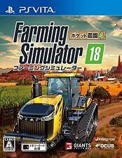 Farming Simulator 18 Pocket Nouen 4  PS Vita SONY PLAYSTATION JAPANESE