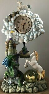 Vintage Collectible Castle in the Clouds Fantasy Clock With Pendulum-Cadona 2000