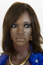 Chestnut Brown Renau Natural Medium Human Hair Lace Front Monofilament Wigs