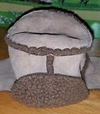 Banana Republic Infant 0-6 months Suede Warm Sherpa Bucket Hat Ear Flaps Winter